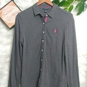 POLO Stretchy Button Down Polo Shirt